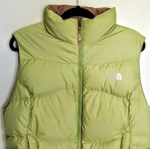 North Face Women's Large Puffer Vest Avocado Grern